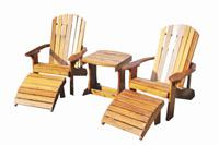 Click to enlarge image ADIRONDACK SET - <i><B><font size=&#39;-1&#39;>Perfect for Relaxing with a Special Someone!</i></B>